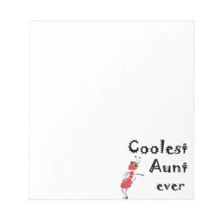 Coolest Aunt Ever Art Notepad