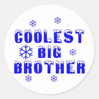 Coolest Big Brother Round Sticker