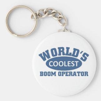 Coolest Boom Operator Basic Round Button Keychain