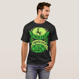 Coolest Capricorn In The World Zodiac Tshirt