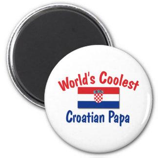 Coolest Croatian Papa Magnet