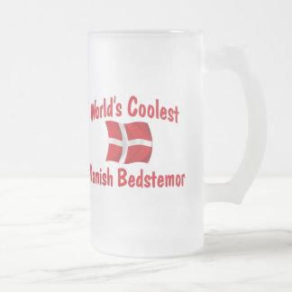 Coolest Danish Bedstemor Frosted Glass Beer Mug