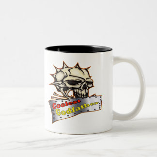 Coolest Godfather Father's Day Gift Two-Tone Coffee Mug