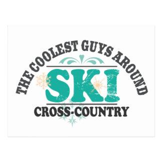 Coolest Guys XC Ski Postcard