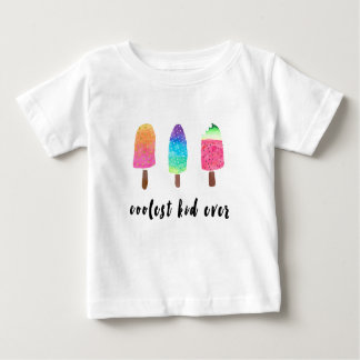 Coolest Kid Ever Colorful Watercolor Popsicles Baby T-Shirt