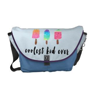 Coolest Kid Ever Popsicles Blue Baby Boy Diaper Commuter Bags