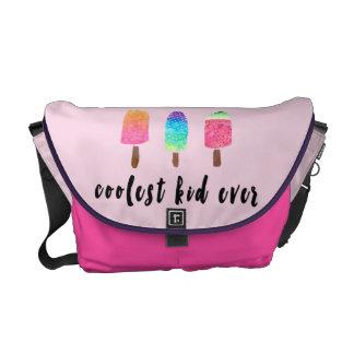 Coolest Kid Ever Popsicles Pink Baby Girl Diaper Messenger Bag