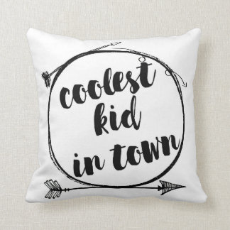 Coolest Kid In Town Woodland Tribal Nursery Pillow