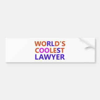 coolest lawyer bumper sticker