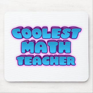 coolest math teacher mouse pad