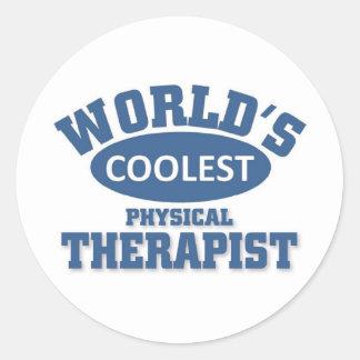 Coolest Physical Therapist Round Sticker