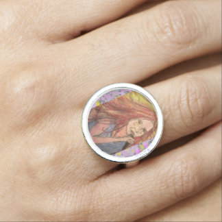 Coolest Rocker Girl drip Photo Rings
