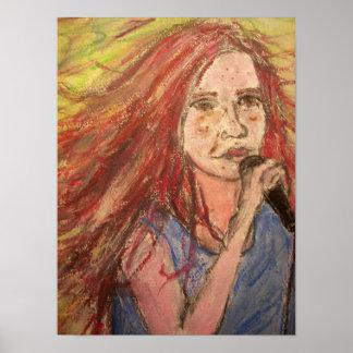 Coolest Rocker Girl Poster