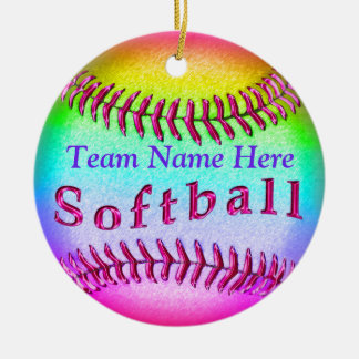 Coolest Softball Ornaments Personalized TEAM NAME