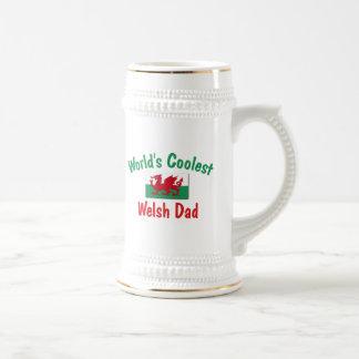 Coolest Welsh Dad 18 Oz Beer Stein