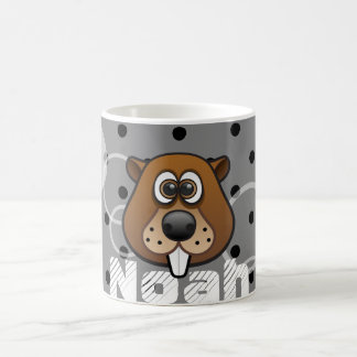 Coolly Beaver Custom Color Background with name Coffee Mug