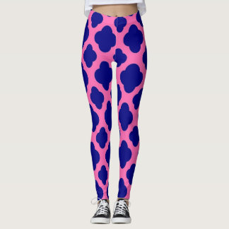 Coolly pink one/blue one put-went leggings