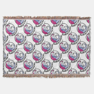 Coolly Unicorn bang-hard unicorn Throw Blanket