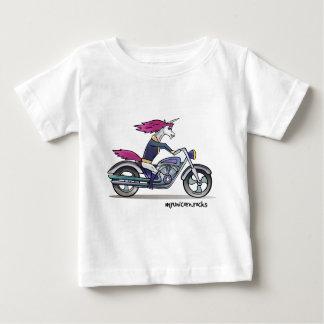 Coolly unicorn on motorcycle - bang-hard unicorn baby T-Shirt