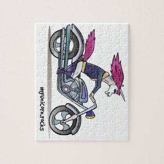Coolly unicorn on motorcycle - bang-hard unicorn jigsaw puzzle