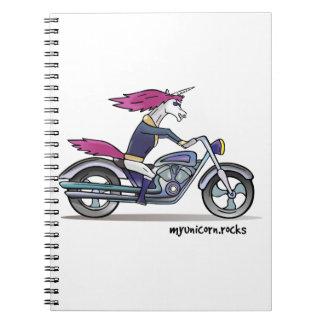 Coolly unicorn on motorcycle - bang-hard unicorn notebook