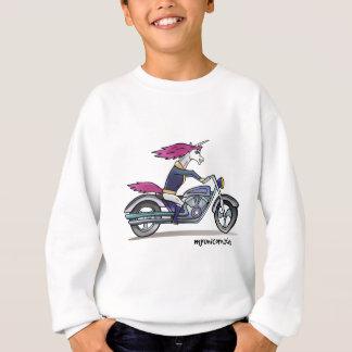 Coolly unicorn on motorcycle - bang-hard unicorn sweatshirt