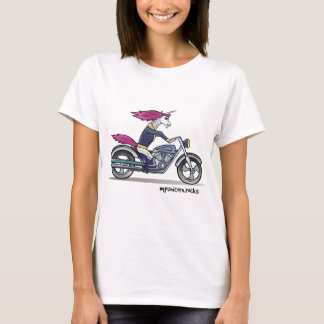 Coolly unicorn on motorcycle - bang-hard unicorn T-Shirt
