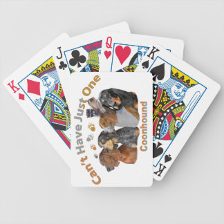 Coon Dog Can't Have Just One Apparel And Gifts Bicycle Playing Cards