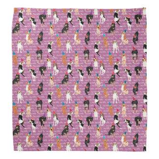 Coonhound Birthday (pink) bandana