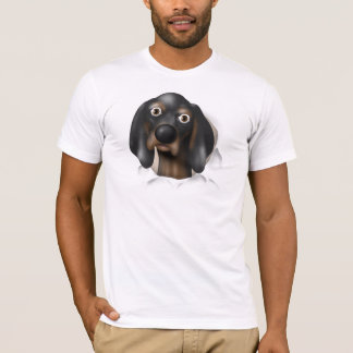 Coonhound (Black and Tan) Busting Out T-Shirt