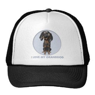 Coonhound (Black and Tan) Granddog Trucker Hats