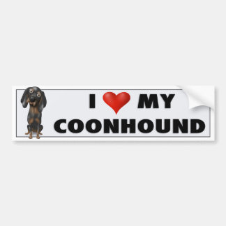 Coonhound (Black and Tan) Love BTC Bumper Sticker