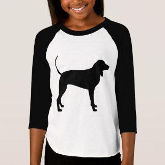 Coonhound Dog (black) Tshirts