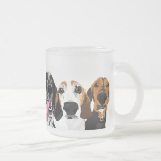 Coonhound Frosted Glass Frosted Glass Coffee Mug
