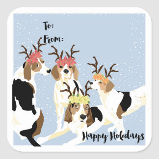 Coonhound Holiday Gift Tag