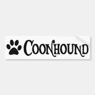 Coonhound (pirate style w/ pawprint) bumper sticker