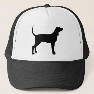 Coonhound Silhouette (black) Trucker Hat