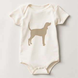 Coonhound Silhouette (tan) Baby Bodysuit