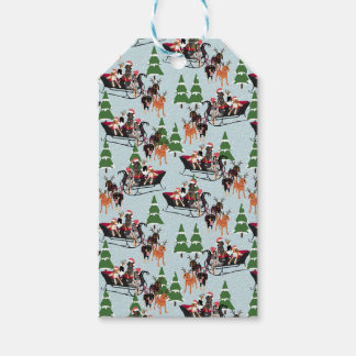 Coonhound Sled Gift Tags
