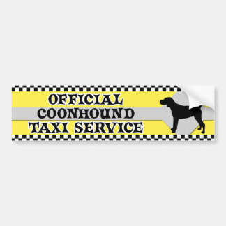 Coonhound Taxi Service Bumper Sticker