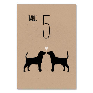Coonhounds Wedding Table Card