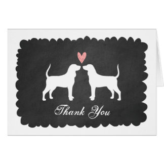 Coonhounds Wedding Thank You Card