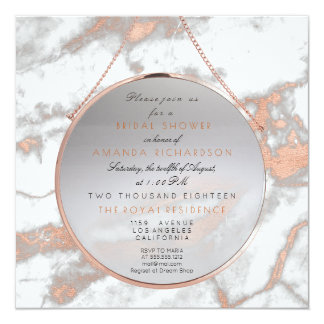 Cooper Bridal Birthay Blush Pink Marble White Gray Card