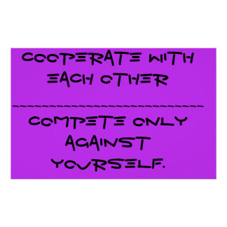 Cooperate Poster