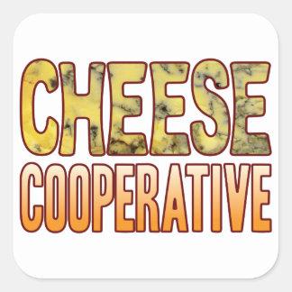 Cooperative Blue Cheese Square Sticker