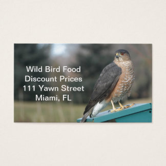 Coopers Hawk Business Card