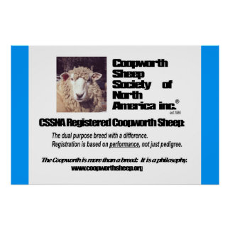 Coopworth Sheep Society of North America Poster