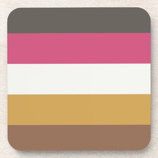 Coordinated Stripes Coasters