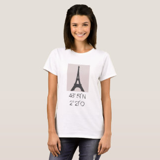 Coordinates Eiffel Tower Paris - shirt