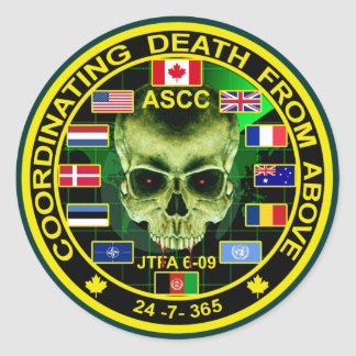 Coordinating Death From Above Classic Round Sticker